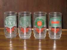 Sinclair Logo glassware, set of 4. [SOLD]
