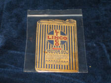 LINCO Motor Oil needles case 1920s, very scarce! $95.